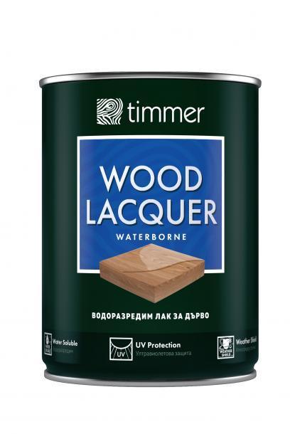 Водоразредим лак за дърво Timmer 0.75л, мат