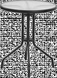 Бистро маса Ф:60 см., черен обков
