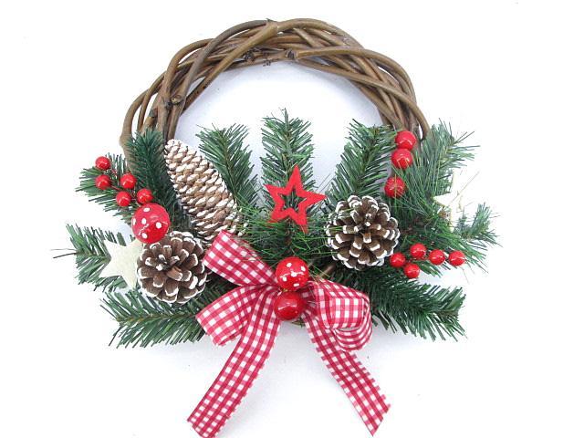 Коледен венец за врата Гъбка ф25 см