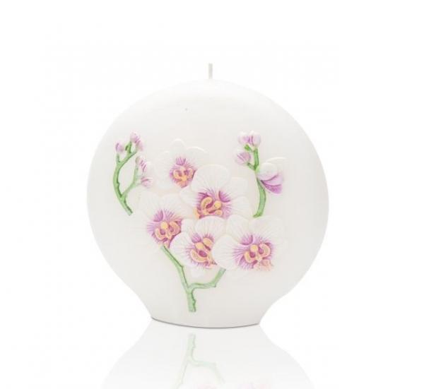 Свещ Орхидея диск ф 130