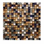 Стъклено-каменна мозайка черен микс