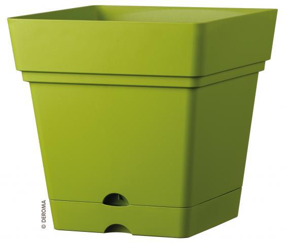 Саксия Самба Квадратна, зелена, 38 см