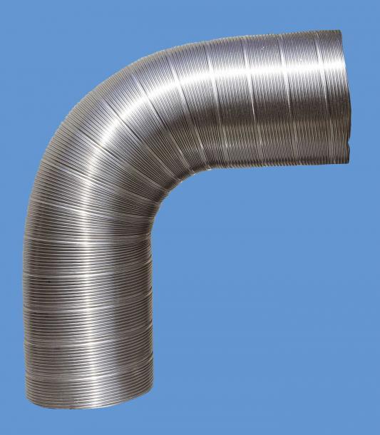 Гъвкав димоотвод Ф150 2м инокс