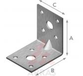 Планка ъглова подсилена равнораменна 90х90х40х2.5