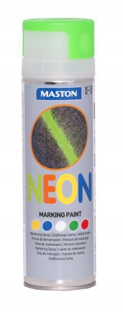 Спрей грунд за маркиране Maston 0.5л, неон зелен
