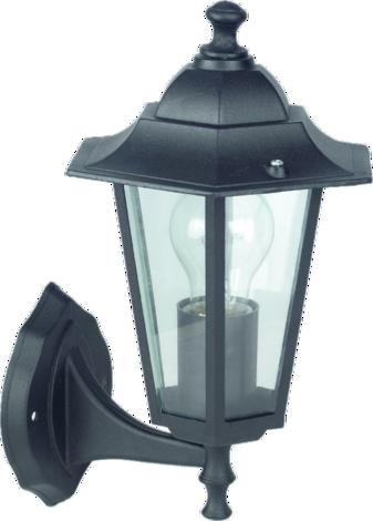 Външна лампа Дерге горна черна