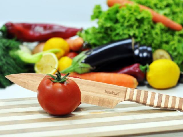 Бамбуков нож за плодове и зеленчуци 2