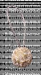 Магнит за перде 89, бял