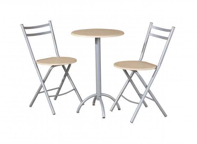 Кръгла  маса с 2 стола