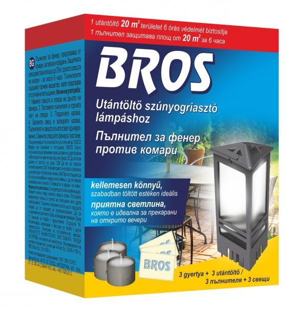 БРОС - Пълнител за фенер против комари - 3бр.