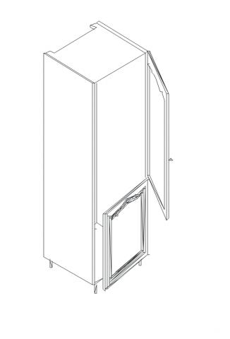 Талпи шкаф колона за вграждане на хладилник 60х60х220