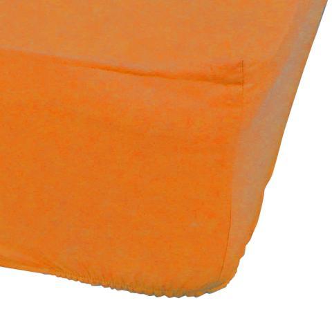Долен чаршаф Ранфорс с ластик-оранж