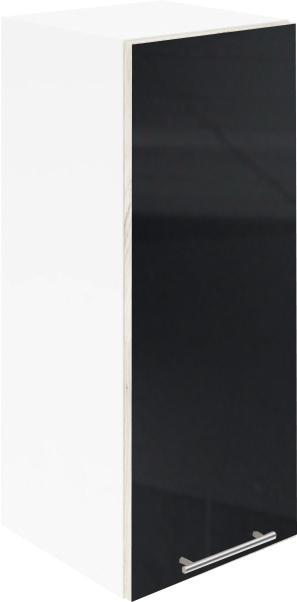 Крафт G1 горен с една врата 50см, черен гланц