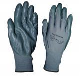 Работни ръкавици сивo трико/нитрилРъкавици сивo трико/нитрил