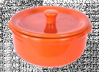 Керамично гювече 14 см/600 мл оранжево