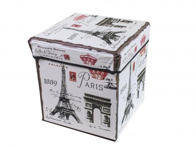 Табуретка кутия сг. кож. Париж