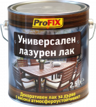 Лазурен лак алкиден Profix  2.5 л, безцветен