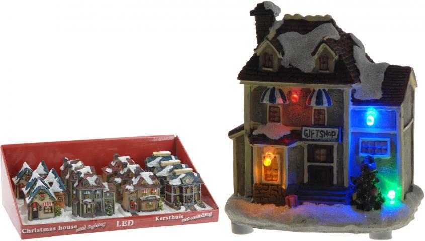 Фигурка Светеща Коледна къща