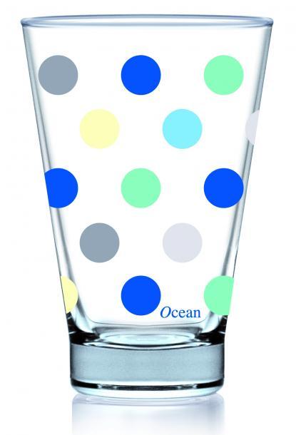 Чаши сини точки 435 мл, 3бр