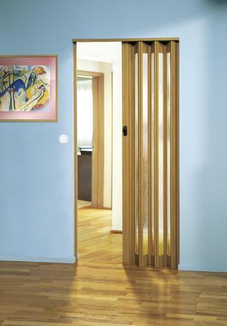Сгъваема врата EUROSTAR-GLAS 83х205 см. светъл дъб