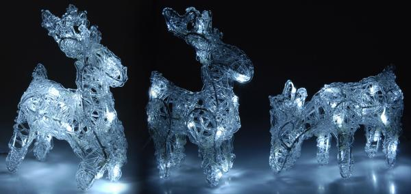 Светещ елен 16 LED бяла светлина IN