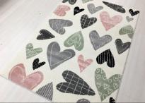 Килим Jazzy сърца бял 160x230 см