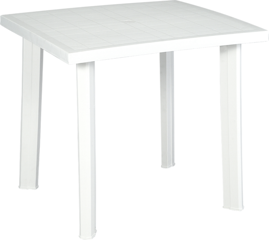 Пласт.маса80x75cm,бяла