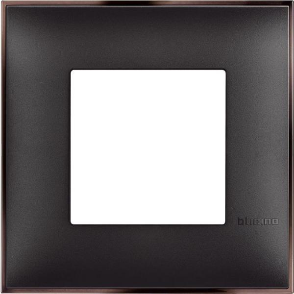 Рамка единична черено/никел Bticino