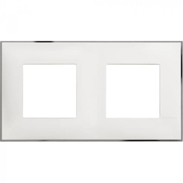 Рамка двойна бяло/хром Bticino