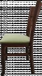 Трапезен стол Лира, среден орех