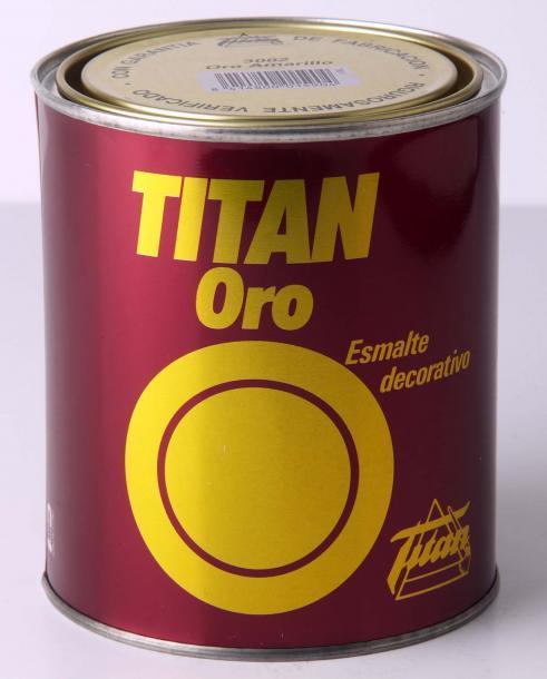 Декоративна златна боя Titan Oro 0.75л, amarilo