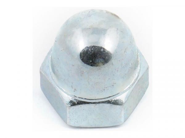 Гайка калпачата М4 DIN 1587 клас 6,Zn поцинкована