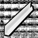 Обикновен завършващ профил 3 м