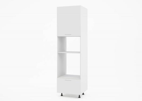 Крафт К2 колонен шкаф за фурна и микровълнова, бял гланц