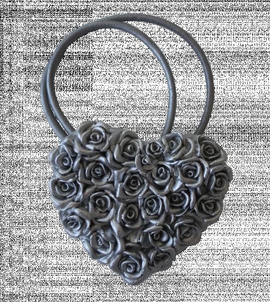 Магнит за перде рози сребърен
