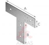 Планка T-образна 150х100х40 х2.5