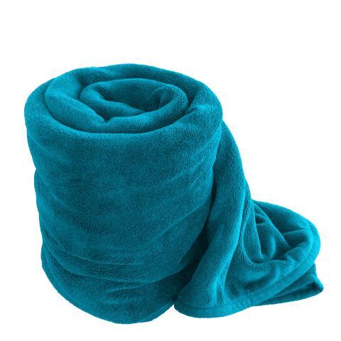 Одеяло микрофибър 150х200см синьо