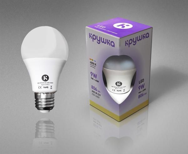 LED крушка 9W E27 800lm неутрална