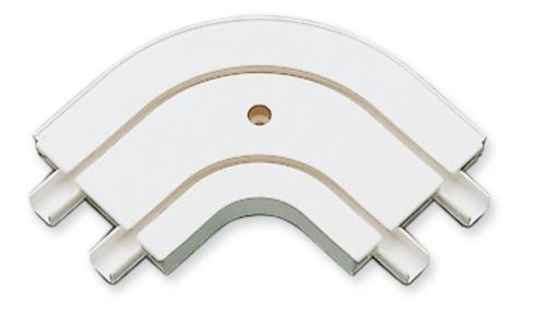 Аксесоар ъглова свръзка 2-канална външна бяло