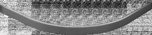 Поддушов профил овал бял 90х90 см