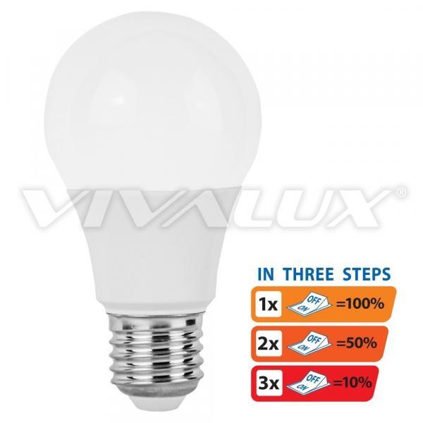 LED крушка 3степенна 10W E27 3000K