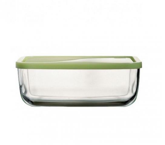 Кутия прав. стъкло с пласт. капак 1.7л.203х120мм