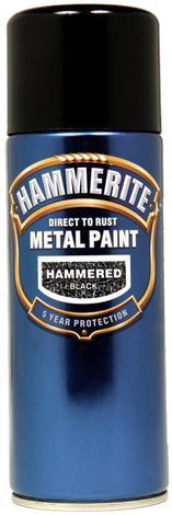 Спрей Hammerite 0.4л, черен хамър ефект