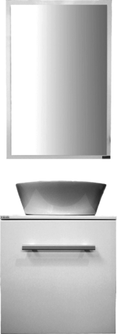 Шкаф Вайс 50 см с мивка, бял