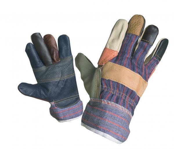 Ръкавици кожа и плат Robin n.10.5