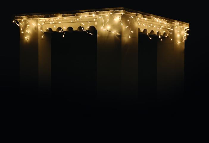 Светеща завеса 'Висулка с флаш' 3