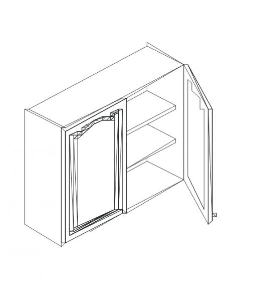 Талпи горен шкаф с 2 плътни врати и рафт 80х29х71.5