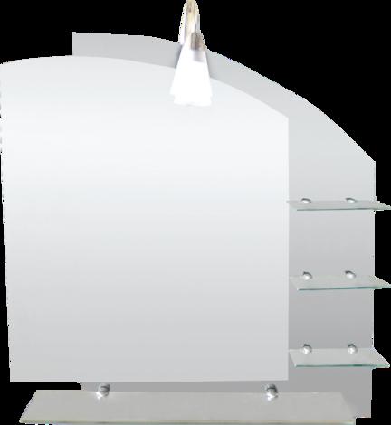 Огледало с четири лавици и осветление
