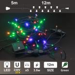 Гирлянд: 120 разноцветни LED /диодни/ лампички.