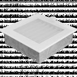 Решетка 17/17 см бяла със жалузи